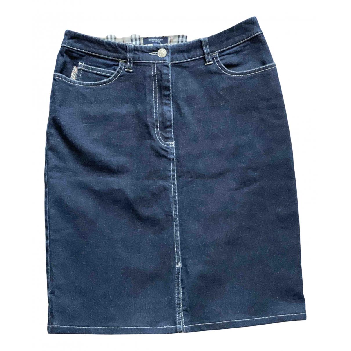Burberry N Blue Denim - Jeans skirt for Women 8 UK