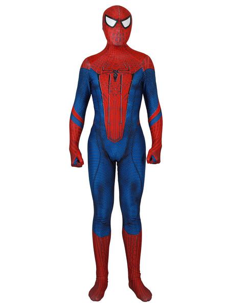 Milanoo Marvel Comics The Amazing Spider Man Lycra Spandex Jumpsuit Film Cosplay Costume