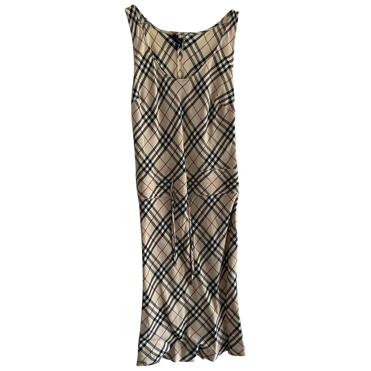 Burberry \N Kleid in  Beige Leinen