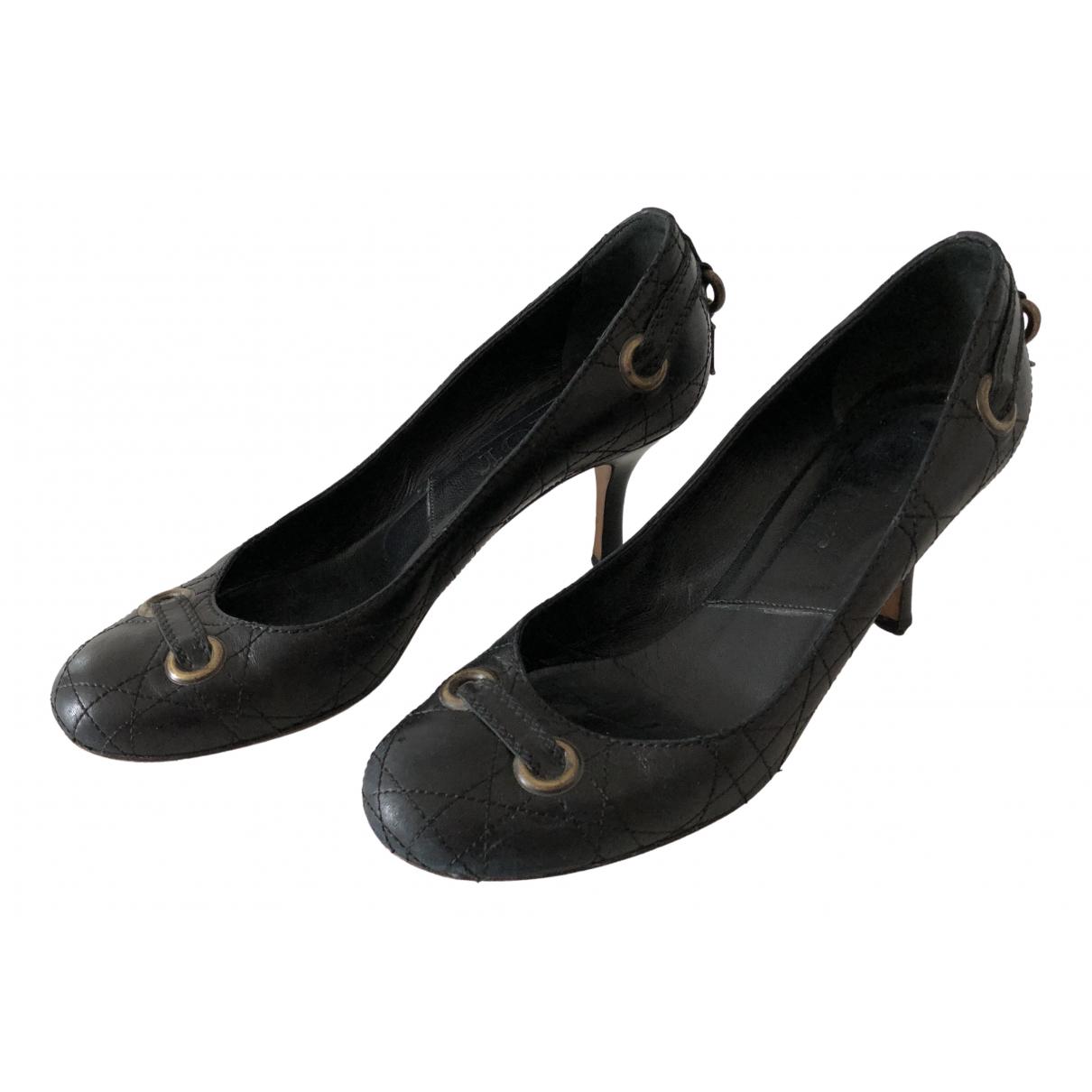 Dior \N Black Leather Heels for Women 37 EU