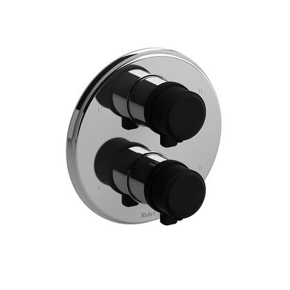 Momenti MMRD88JCBK 4-Way No Share Thermostatic/Pressure Balance Coaxial Complete Valve with J Lever Handles  in