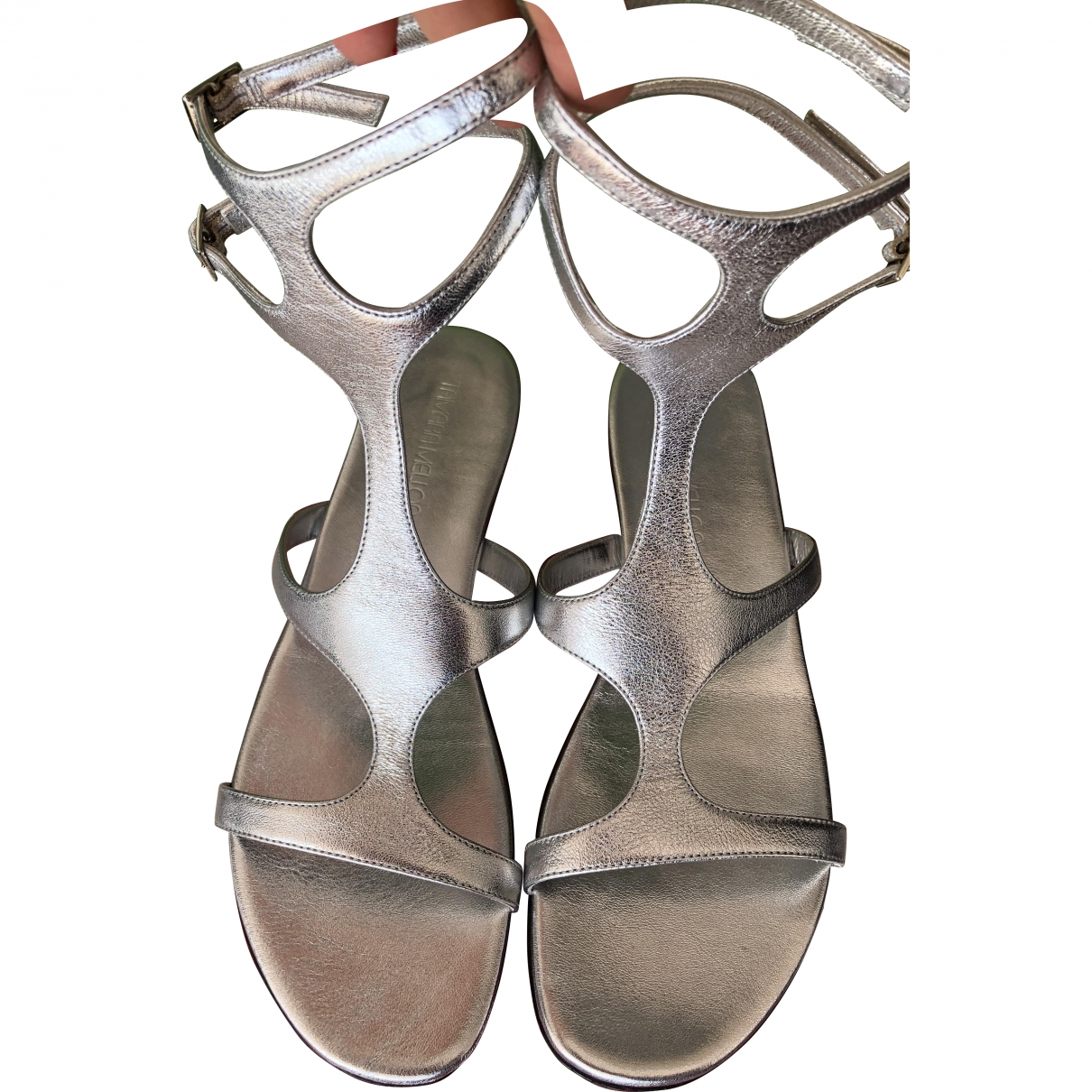 Tamara Mellon \N Silver Leather Sandals for Women 40.5 EU