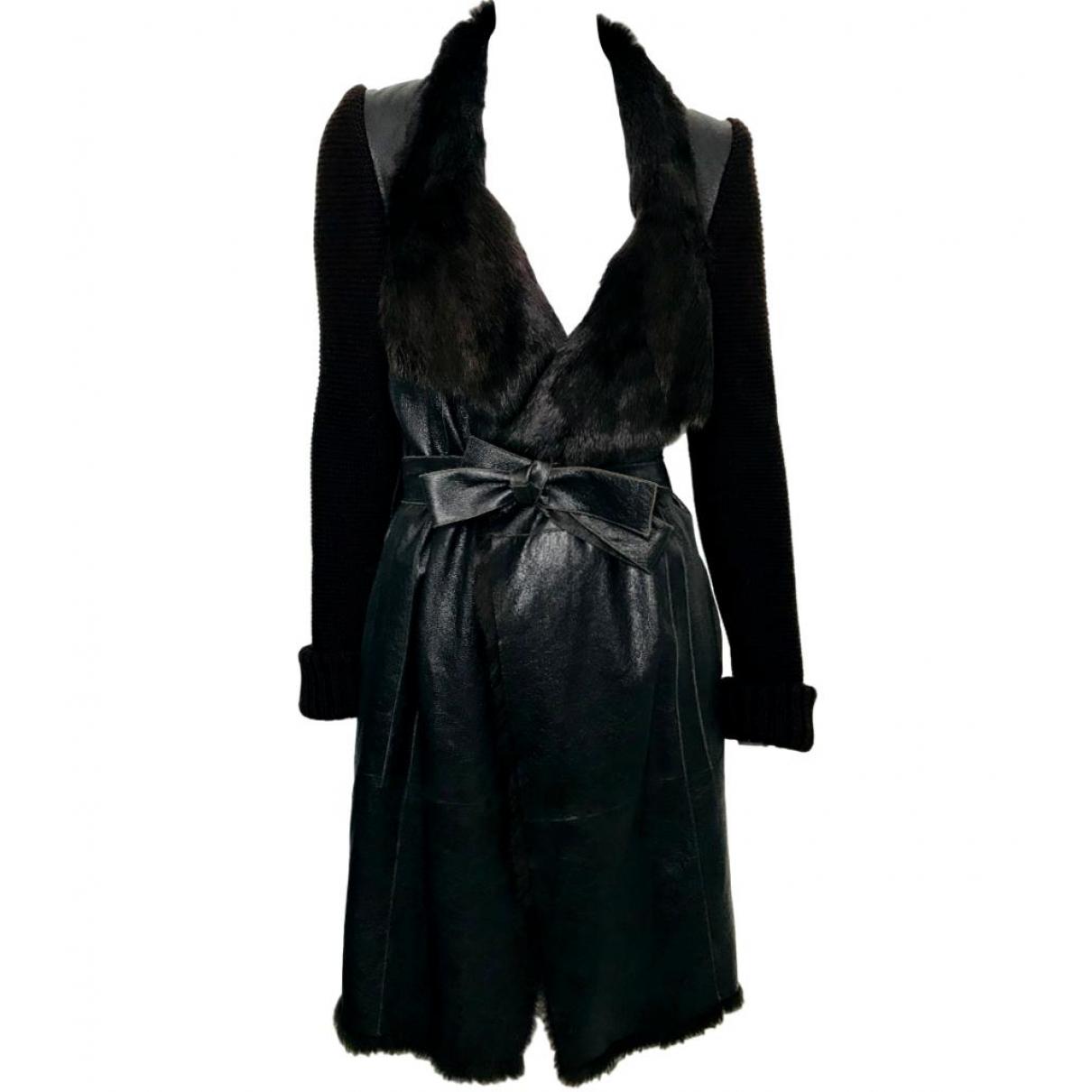 Joseph - Manteau   pour femme en lapin - marron