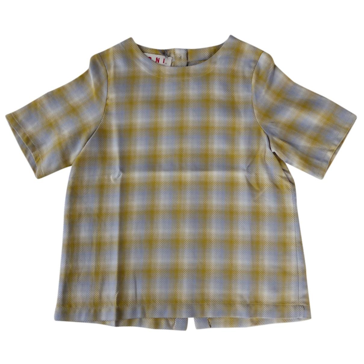 Marni - Top   pour enfant en coton - jaune