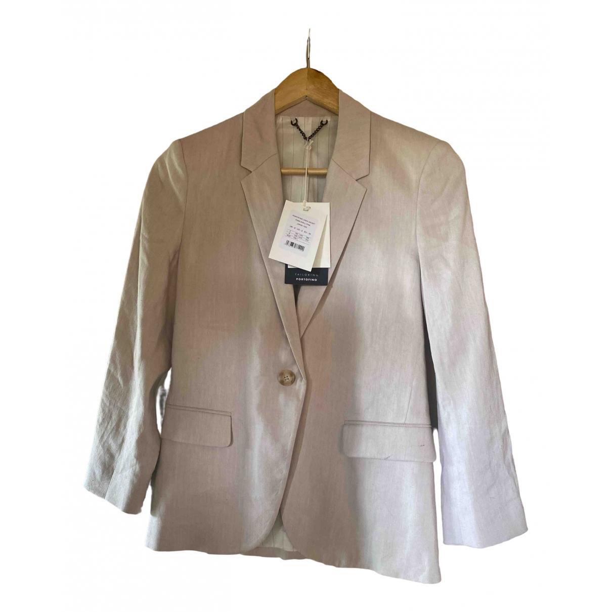 Jigsaw \N Pink Linen jacket for Women 6 UK