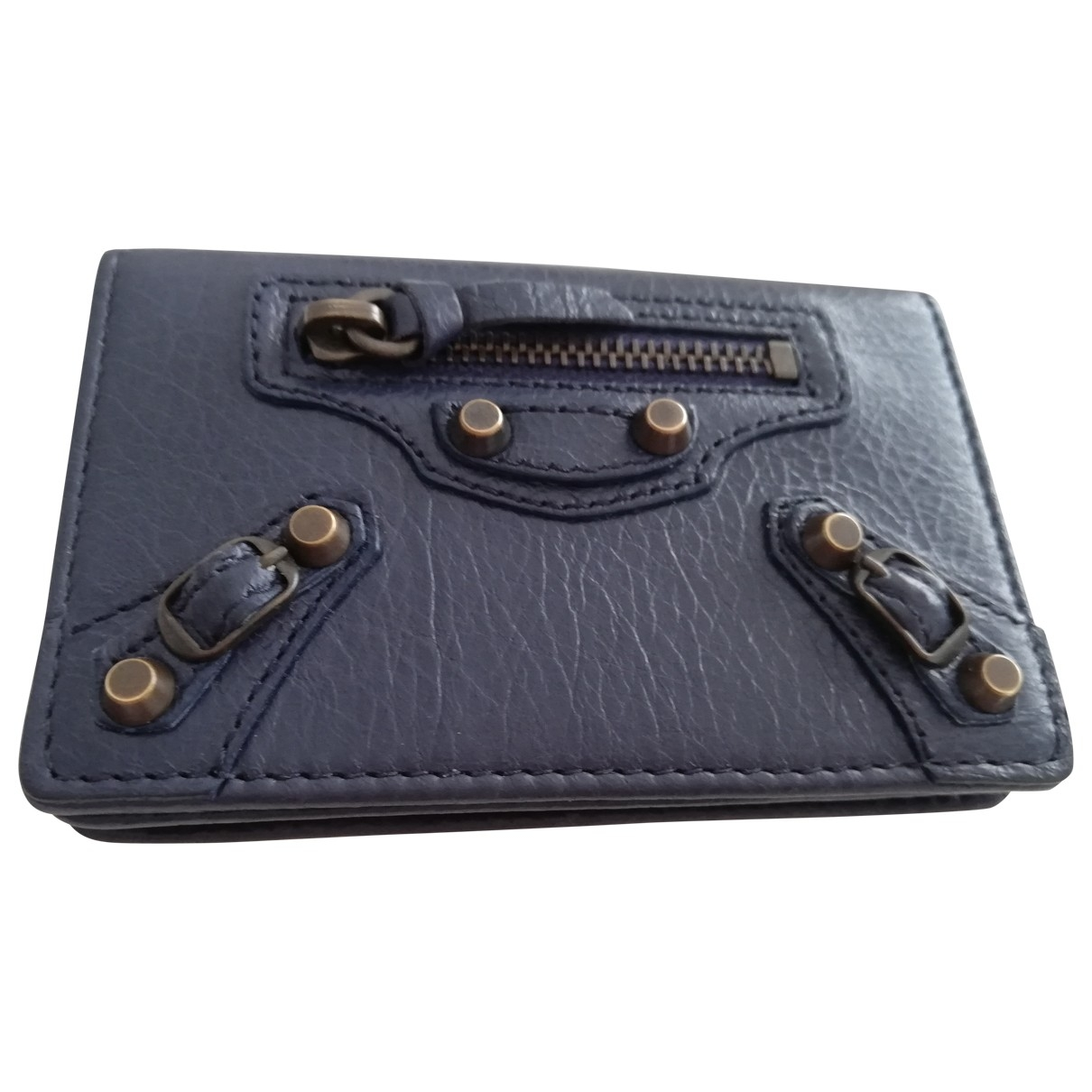 Balenciaga \N Blue Leather Purses, wallet & cases for Women \N