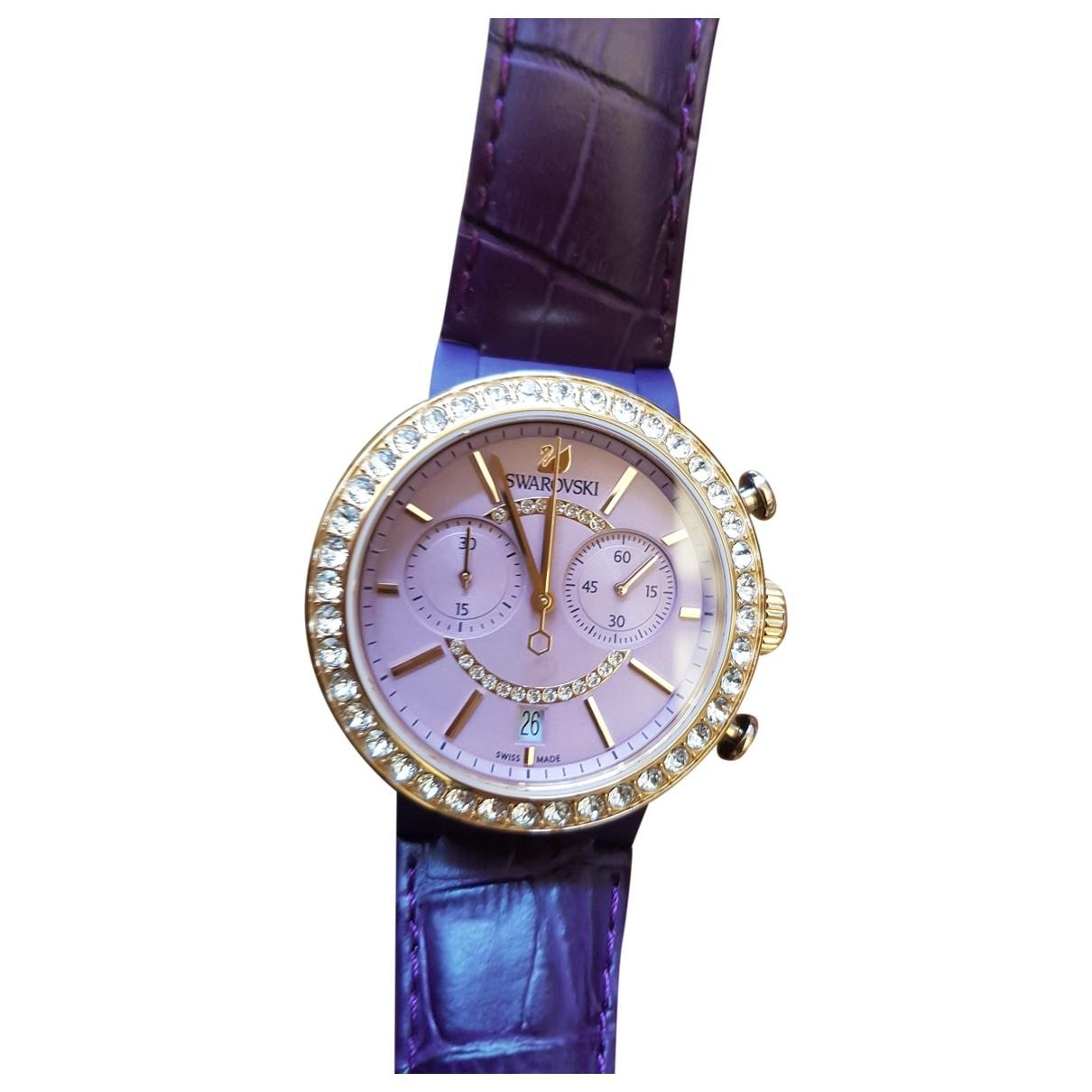 Swarovski \N Pink Steel watch for Women \N
