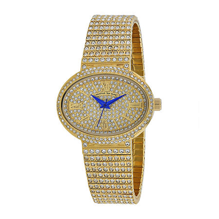 Christian Van Sant Womens Gold Tone Stainless Steel Bracelet Watch-Cv0251, One Size , No Color Family