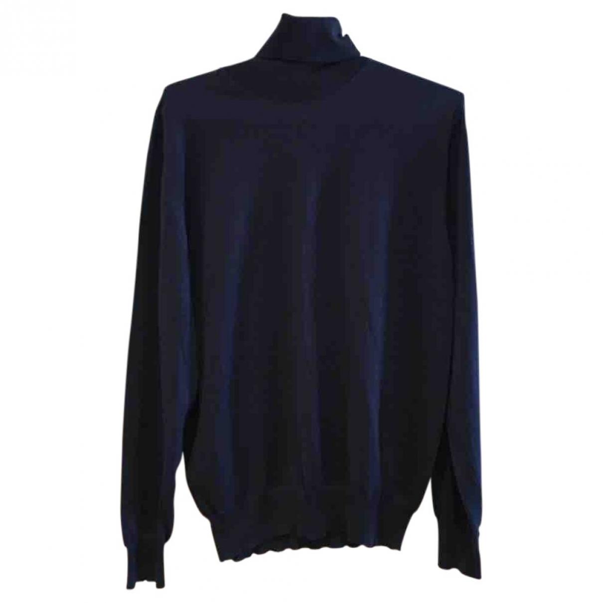 Yves Saint Laurent \N Pullover.Westen.Sweatshirts  in  Marine Wolle
