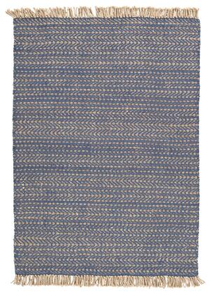 Mavis Collection R403291 Large Rug Made Of Jute  Hand Loomed With Cotton Canvas Backing In Navy/Natural