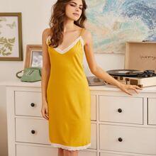 Lace Panel Cami Night Dress
