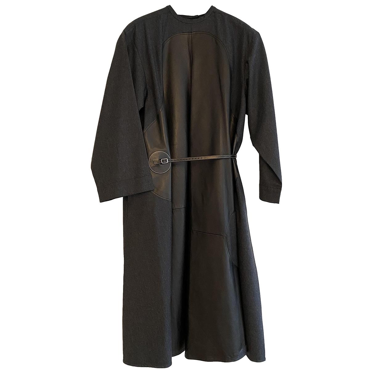 Celine \N Grey Wool dress for Women 38 FR