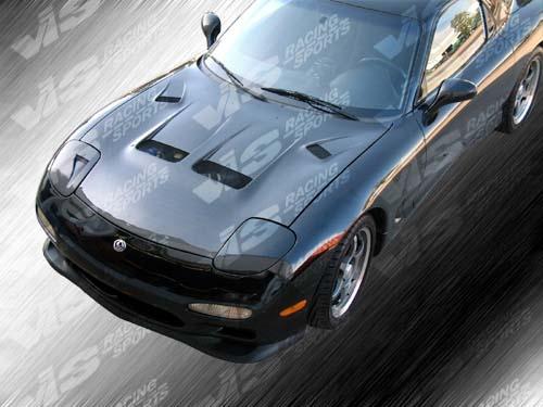 VIS Racing 93MZRX72DKS-010C Carbon Fiber KS Hood Mazda RX7 93-96