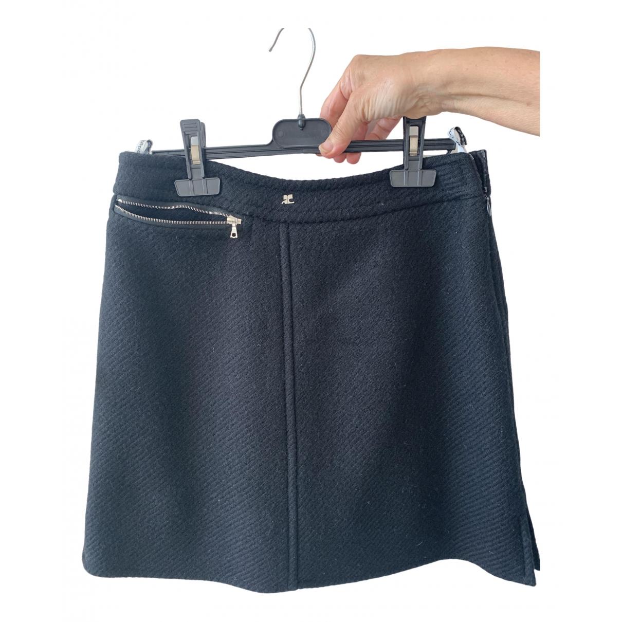Courreges - Jupe   pour femme en coton - noir