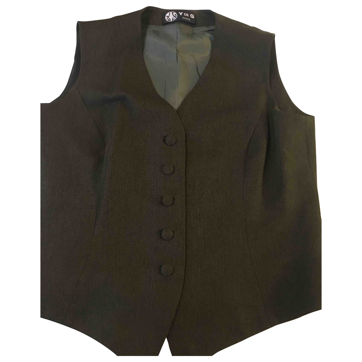 Non Signé / Unsigned \N Green Wool  top for Women 44 FR