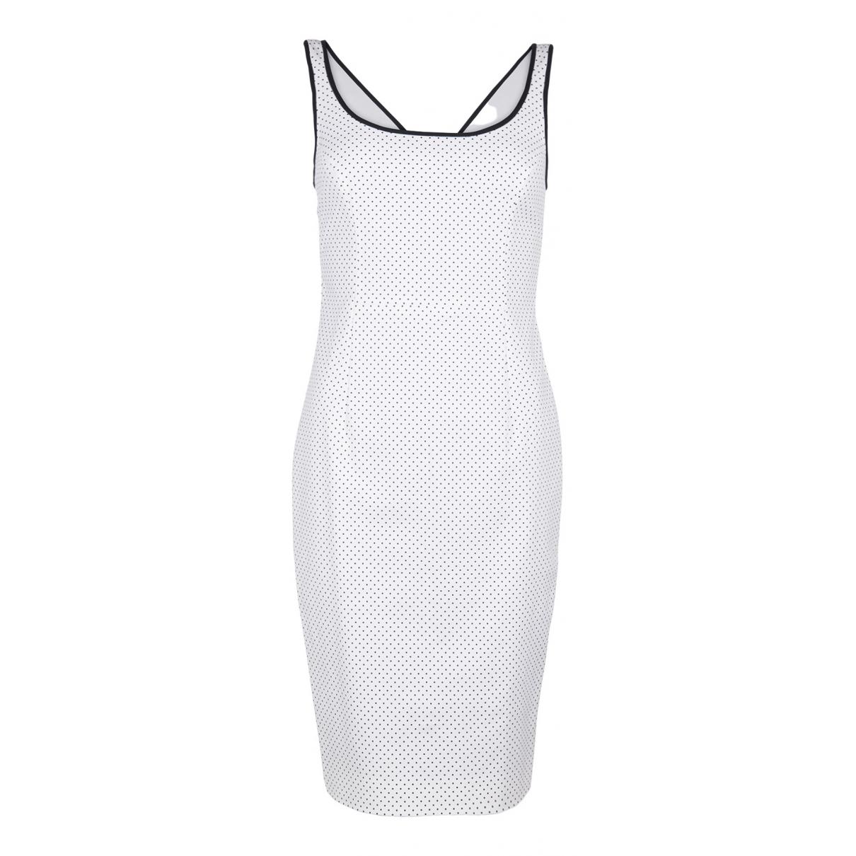 Versace \N Kleid in  Weiss Baumwolle