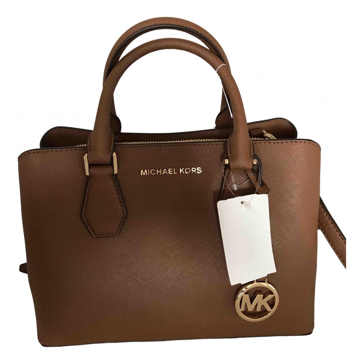 Michael Kors \N Handtasche in  Braun Leder
