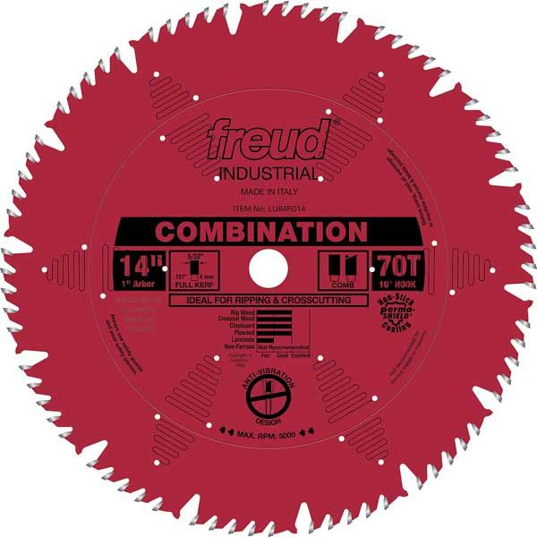 LU84R014 Industrial Combination Blade with Red Perma-Shield, 14