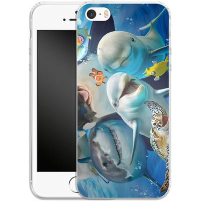 Apple iPhone SE Silikon Handyhuelle - Ocean Selfie von Howard Robinson