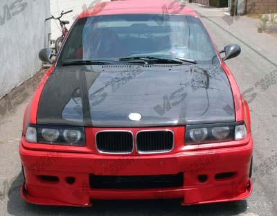VIS Racing 92BME364DOE-010C Carbon Fiber OEM Style Hood BMW 3 Series E36 4dr 92-98