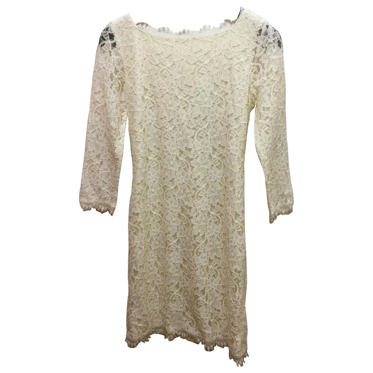 Diane Von Furstenberg - Robe   pour femme - ecru