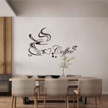 Coffee Cup Print Wall Sticker