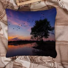 Scenery Pattern Cushion Cover Without Filler