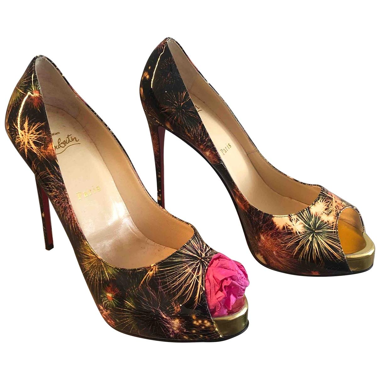 Christian Louboutin Lady Peep Multicolour Patent leather Heels for Women 39.5 EU