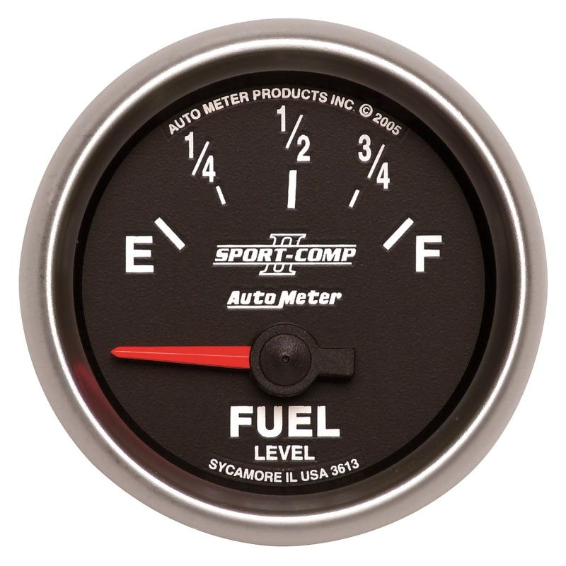 AutoMeter GAUGE; FUEL LEVEL; 2 1/16in.; 0OE TO 90OF; ELEC; SPORT-COMP II