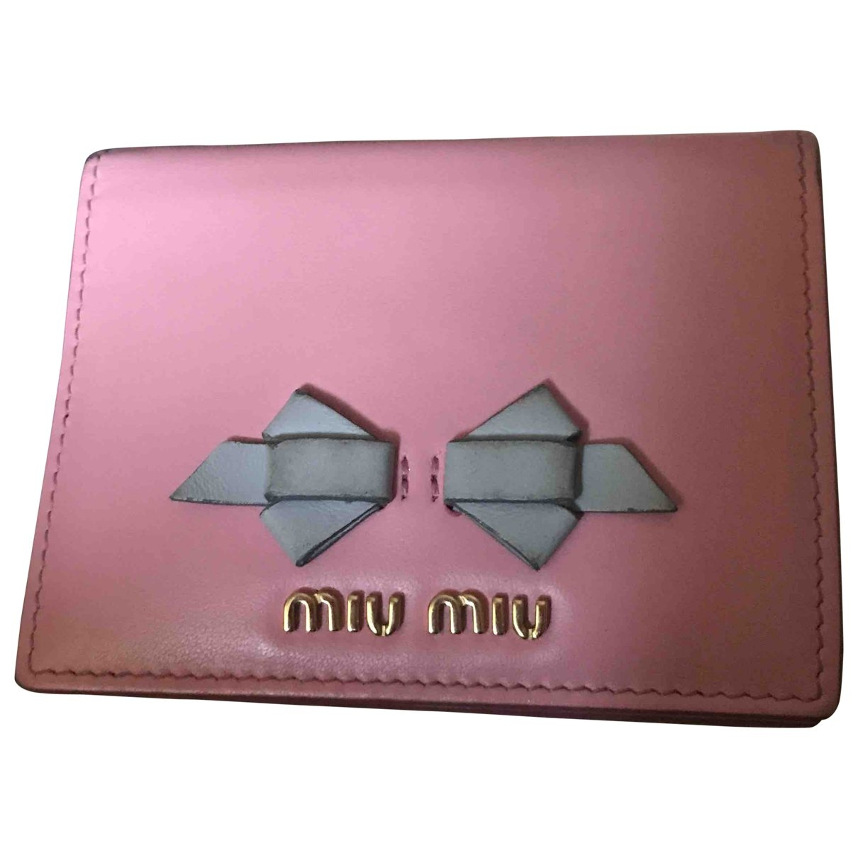 Miu Miu \N Pink Leather wallet for Women \N