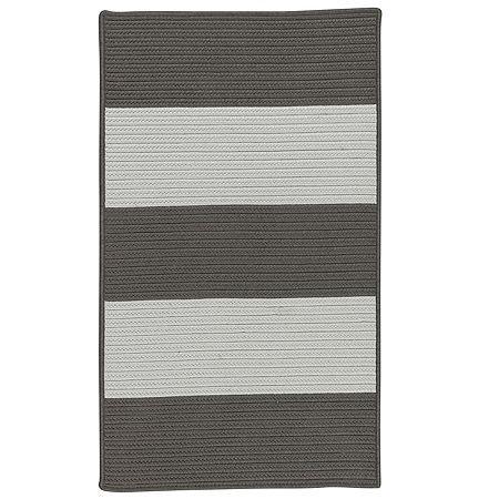 Colonial Mills Mayfield Textured Tone Braided Rectangular Reversible Indoor/Outdoor Rugs, One Size , Gray
