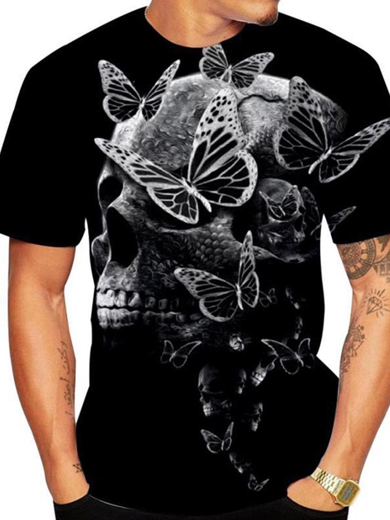 Ericdress Print Round Neck Animal Short Sleeve Pullover T-shirt