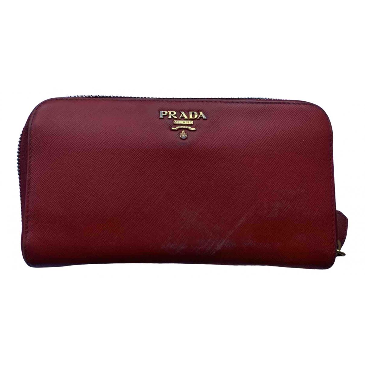 Prada N Red Leather wallet for Women N