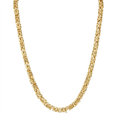 14K Gold Over Silver 17 Inch Semisolid Chain Necklace, One Size , No Color Family