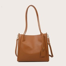 Plain Large Capacity Tote Bag