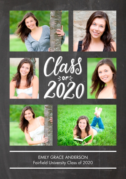 2020 Graduation Announcements Flat Matte Photo Paper Cards with Envelopes, 5x7, Card & Stationery -Grad 2020 Memories by Tumbalina