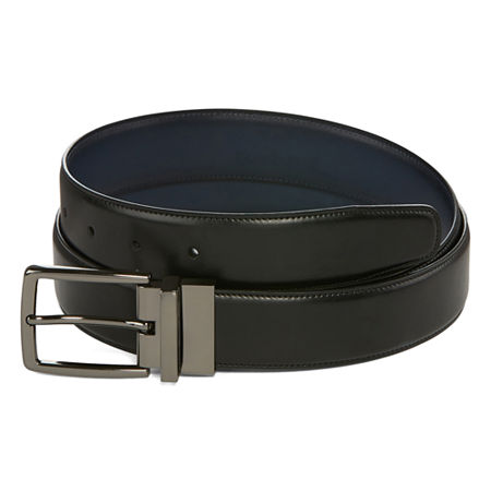 JF J.Ferrar Reversible Stretch Belt, Small , Blue
