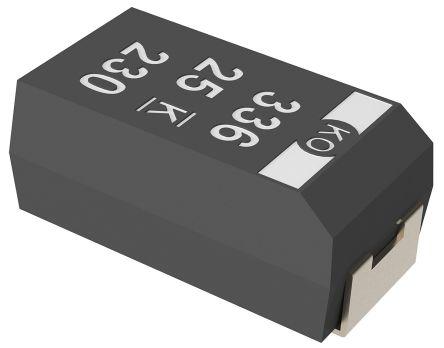 KEMET Tantalum Capacitor 33μF 16V dc Polymer Solid ±20% Tolerance , T521 (5)