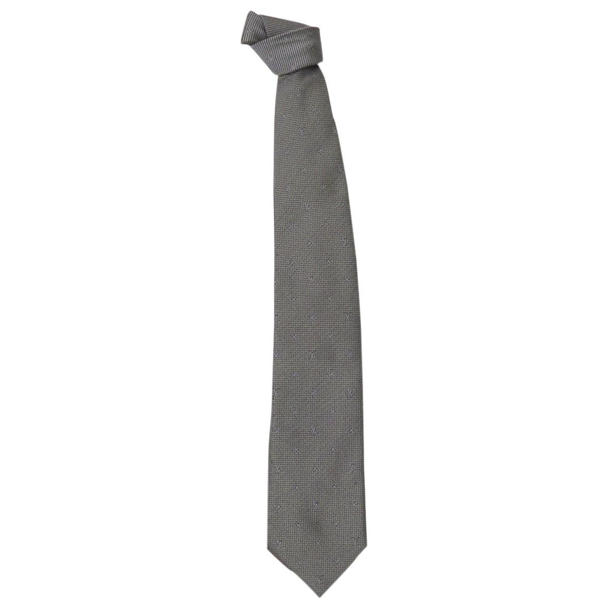 Louis Vuitton N Grey Cotton Ties for Men N