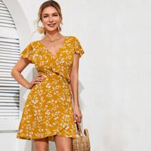 Gelb  Knoten  Gebluemt  Bohmisch Kleider
