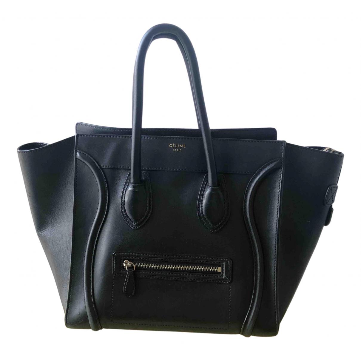 Celine Luggage Black Leather handbag for Women N