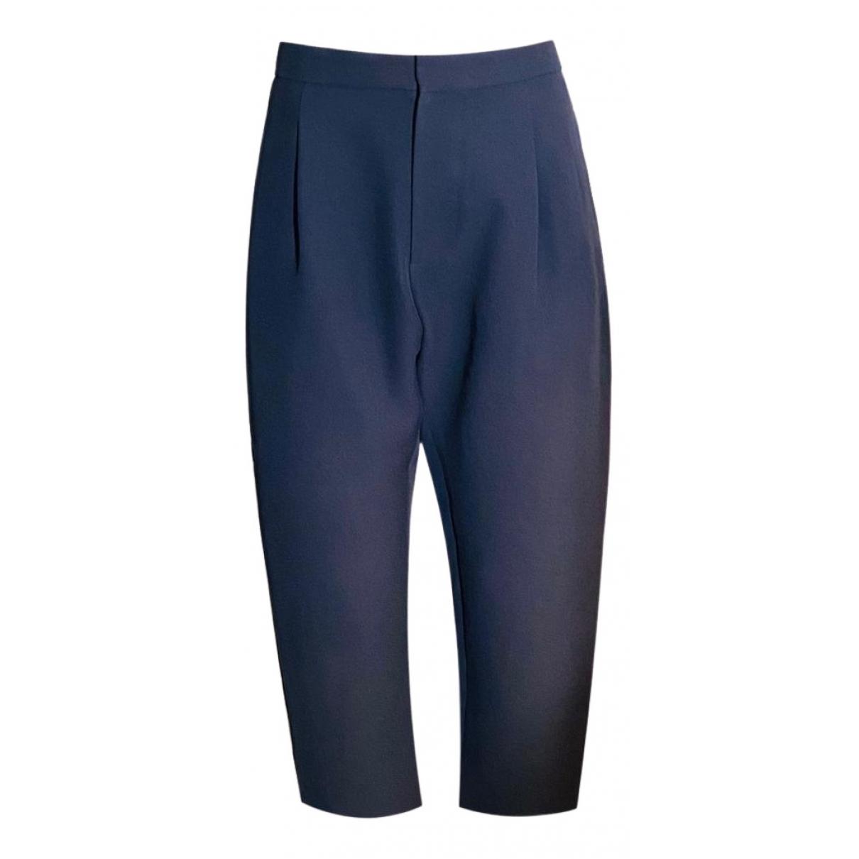 Marni N Navy Trousers for Women 38 IT