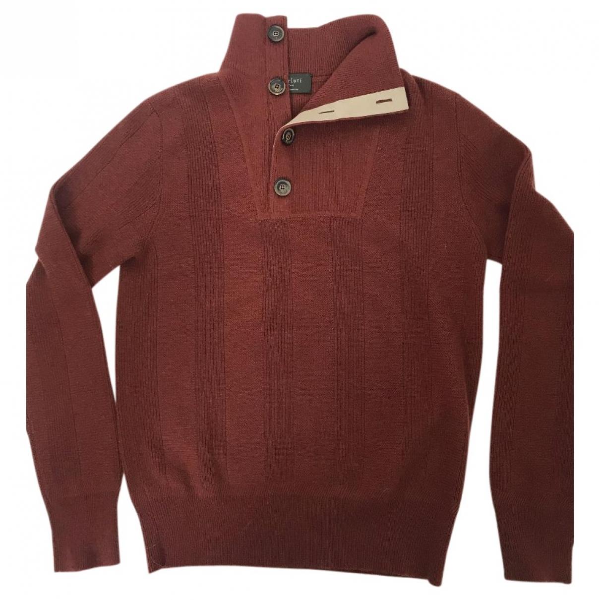 Berluti \N Pullover.Westen.Sweatshirts  in  Bordeauxrot Kaschmir