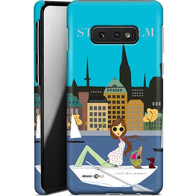 Samsung Galaxy S10e Smartphone Huelle - STOCKHOLM TRAVEL POSTER von IRMA