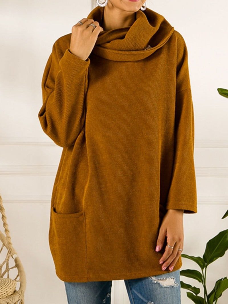 Ericdress Loose Long Sleeve Pocket Sweater