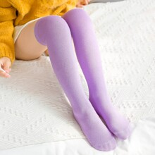 Toddler Girls Plain Knee Socks