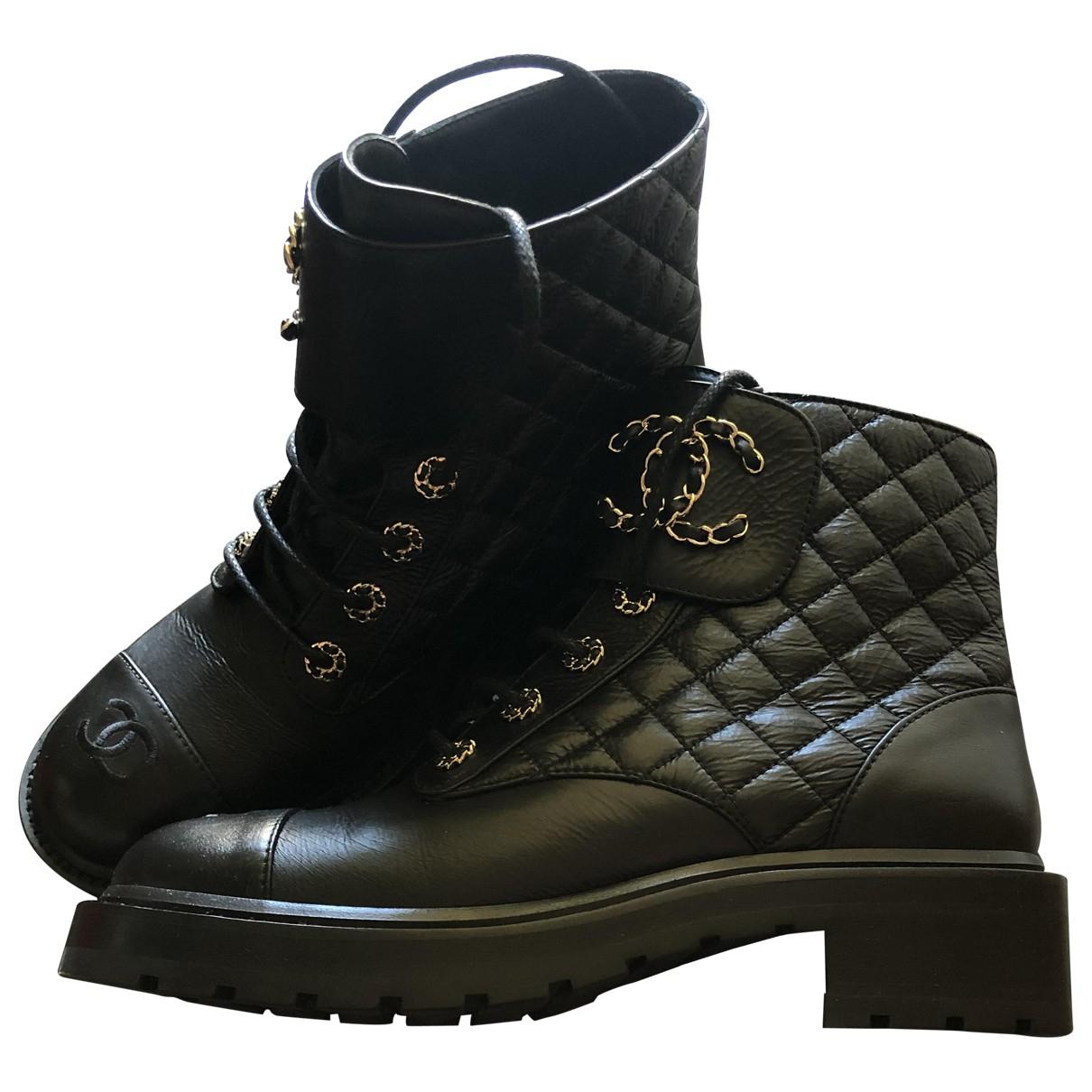 Botas de Cuero Chanel
