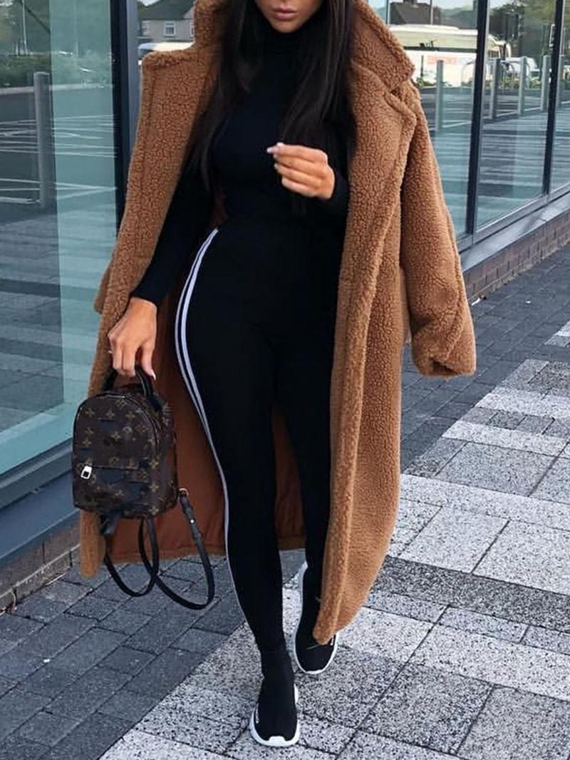 Ericdress Loose Lapel Winter Fashion Overcoat
