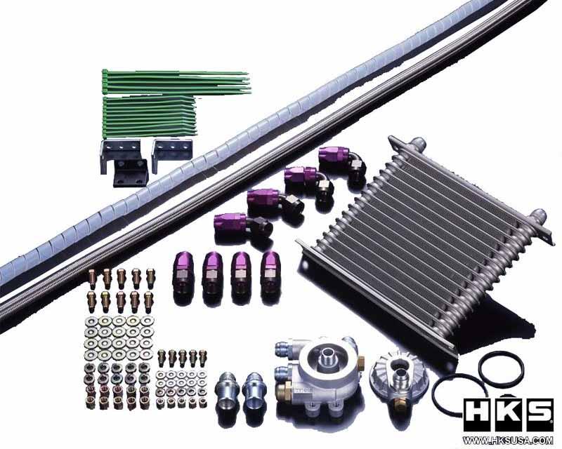 HKS 15004-AT011 S TYPE Oil Cooler Side Mount Kit Subaru BRZ 13-15