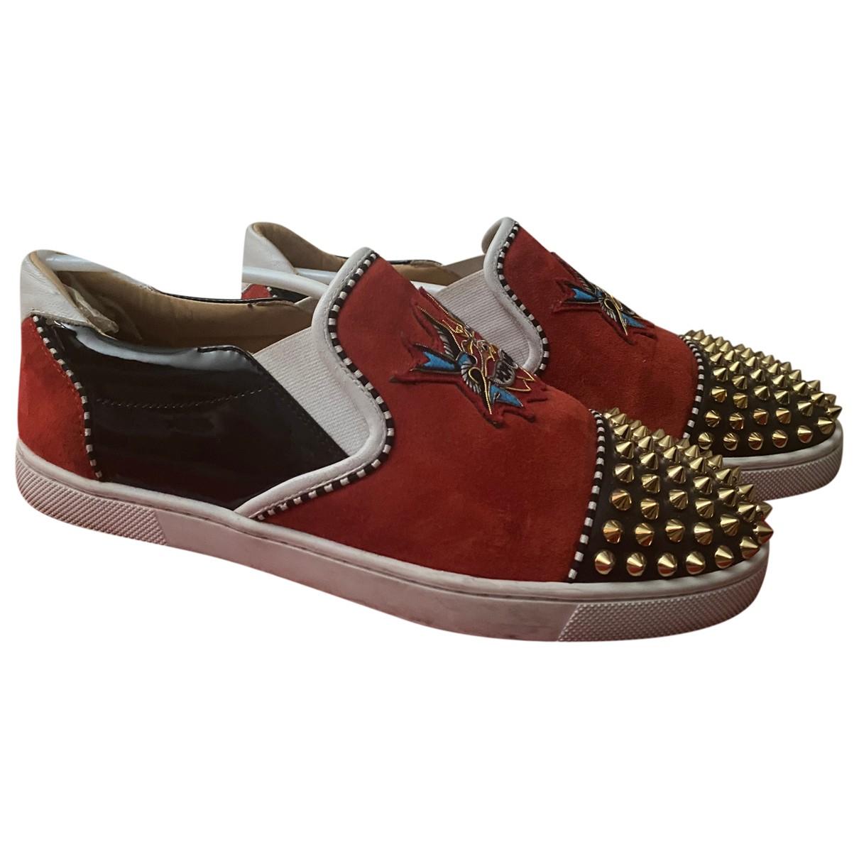 Christian Louboutin \N Sneakers in  Bunt Veloursleder
